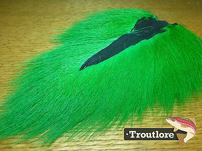 Green Bucktail Nature's Spirit Select Buck Tail - New Fly Tying Hair Material