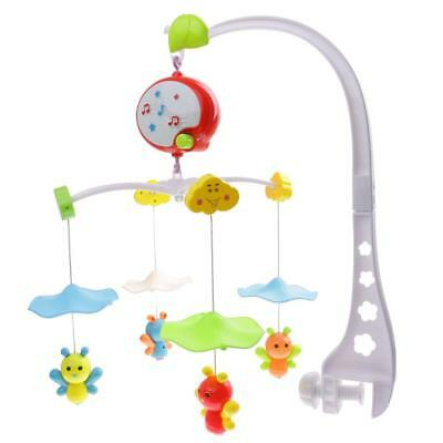 1 Set Nursery Mobiles Crib Cot Bed Bell with Holder Arm Bracket + Music Box