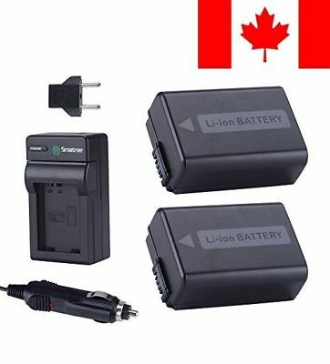 Smatree Replacement Battery(2-Pack) + Battery Charger for Sony NP-FW50