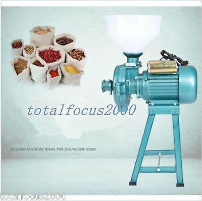 Electric Animal Poultry Feed Mill Wet Dry Grinder Corn Grain Rice Wheat 220V new