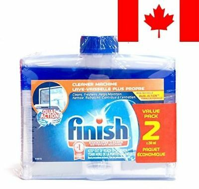 Finish Dishwasher Detergent Cleaner Dual Action Formula Value, 2 Count