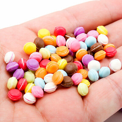 5PCS Mix Macaron Macaroon Bakery Pastry 7mm 1:12 Scale Miniature Dollhouse A1756