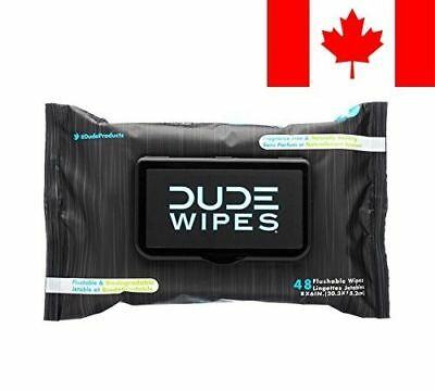 DUDE Wipes, Flushable Moist Dispenser Pack, Fragrance Free and Naturally Soot...