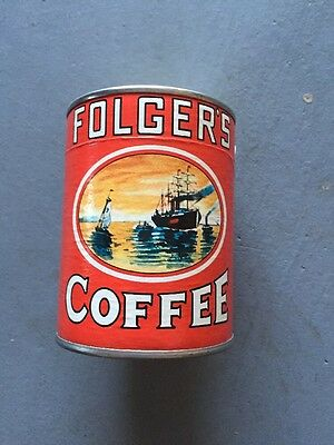 VINTAGE 1980's FOLGER'S COFFEE PROMOTIONAL PUZZLE IN UNOPENED CANISTER