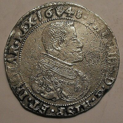 1648 Philip IV of Spain Ducaton. Spain Brussels huge hammered  coin
