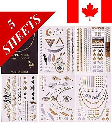 Flash Temporary Tattoos by Kiki - Best Premium Metallic Jewelry Tattoos Armba...