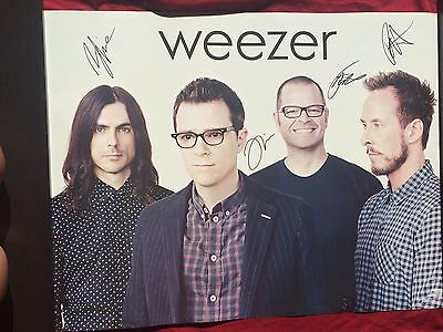 Weezer Signed Promo Poster In Person Autograph Everything Will Be Alright #2