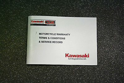 Kawasaki Service  and Warranty Record Book. Blank and Unmarked.