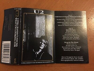 U2 Cassette Single Inlay Card For 'I Still Haven't Found'
