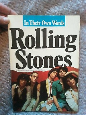 ROLLING STONES - IN THEIR OWN WORDS By Dalton & Farren. PAPERBACK BOOK