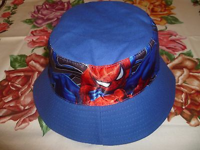 Boys spider-man bucket hat,size 54 cm,blue colour,cotton.good for a gift.3 left.