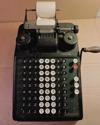 Burroughs Adding Machine Vintage 1920's Portable Accounting Pre Calculator NICE