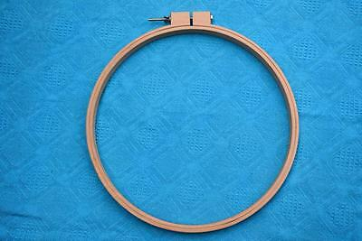 Quality PORTABLE TIMBER FRAME/HOOP Rug Tapestry Embroidery. AS NEW. Large 40cm