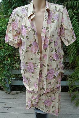 French Country Matching Skirt/Top. Vintage Floral Print Skirt-16 Overshirt-12