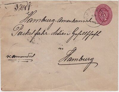 Hungary-1888 5 k PS registered Hethars (now Lipany, Slovakia) cover to Germany