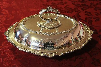 Antique Victorian Silver Plated Lidded Entree Dish, Martin Hall & Co, Dated 1857