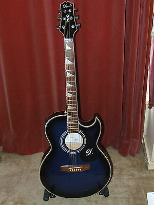 Lindo ORG SL slim Electro Acoustic Guitar in blue