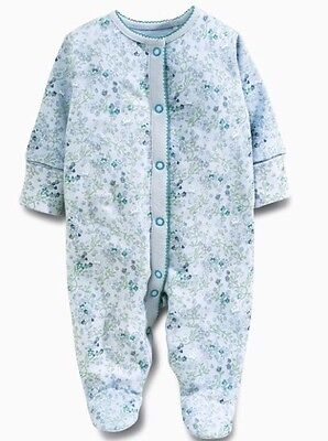 Next White And Teal Three Fairy Sleepsuits 9-12 Months Brand New