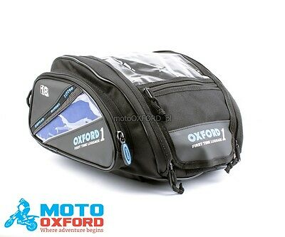 Oxford Mini Tank Bag Small Travel Motorcycle Bike Magnetic 7L Free Storm Cover