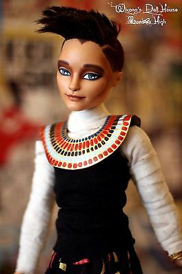 Doll repaint - Seth Ptolemy Egyptian character Monster high OOAK from Hunter EAH