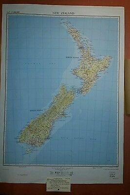 1961 US Army Map New Zealand AMS 9301 1:2,000,000
