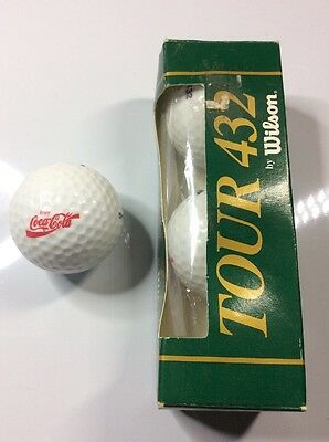 Set of 3 boxed golf balls - COCA COLA - Wilson Tour 432 - c.1990