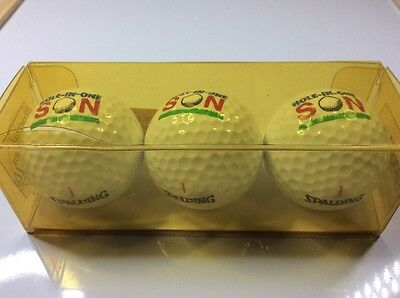 Set of 3 boxed golf balls - HOLE IN ONE SON - Spalding 1993