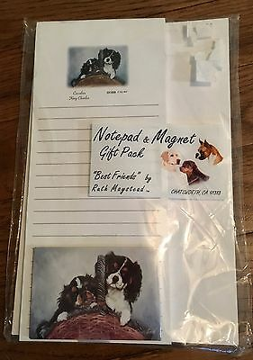 Cavalier King Charles Spaniel Dog Notepad & Magnet Gift Pack - New in Package