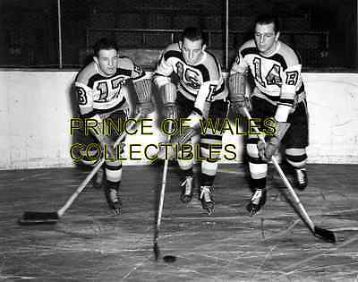 The Kraut Line Milt Schmidt, Woody Dumart & Bobby Bauer 8X10 PHOTO