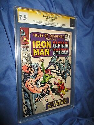 TALES OF SUSPENSE #75 CGC 7.5 SS Signed by Stan Lee ~1st Sharon Carter Agent 13