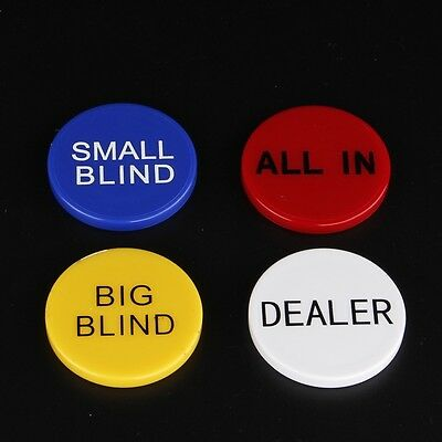 All In,Big Blind,Small Blind & Dealer Button Poker buttons,Texas hold'em buttons