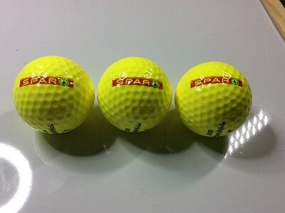 Set of 3 Pinnacle golf balls advertising SPAR c.1990 new and unused