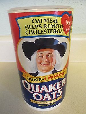 Vintage QUAKER OATS Oatmeal Cylinder Box - Original Container - Cardboard!
