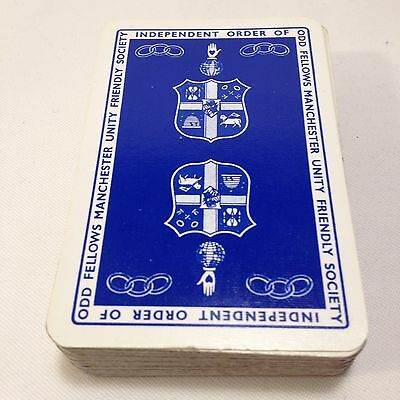 Playing Cards Independent Order Of Odd Fellows Manchester Unity Friendly Society