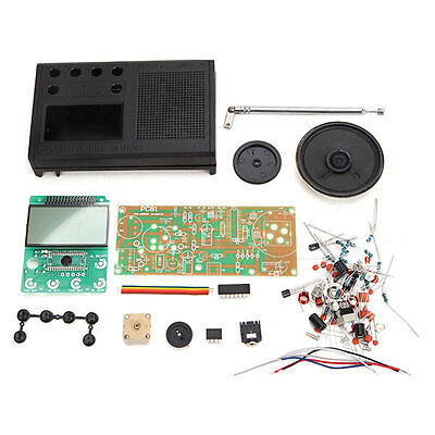 New Black Type1 DIY FM Radio Kit Electronic Learning Suite