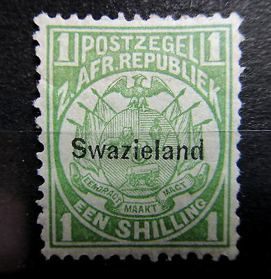 SWAZILAND 1889 1s Stamp - Mint MH - Very Fine - r32b1837