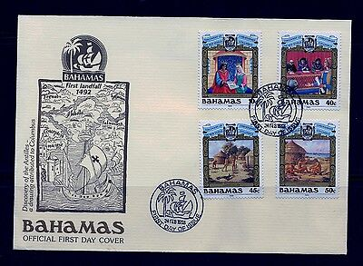 FIRST DAY COVER Discovery of the New World Bahamas #640 - 643 Set 4 U/A FDC 1988
