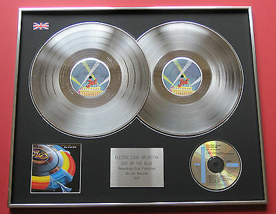 ELO ELECTRIC LIGHT ORCHESTRA Out Of The Blue PLATINUM DBLE LP Presentation Disc