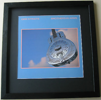DIRE STRAITS Brothers In Arms FRAMED ALBUM COVER