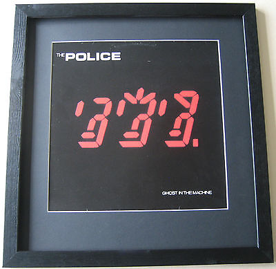 THE POLICE Ghost In The Machine FRAMED ALBUM COVER