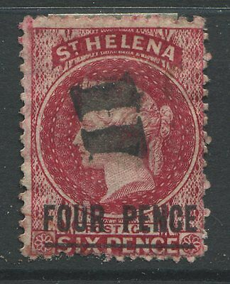 St. Helena 1864 4d on 6d red used