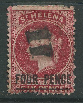 St. Helena 1890 4d on 6d red used