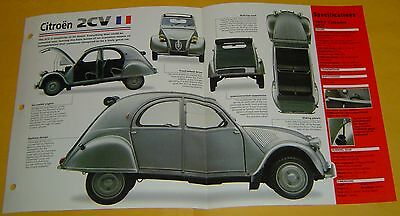 1952 Citroen 2CV Horizontal 2 Cylinder 9 hp 375cc Solex Carb info/specs/photo