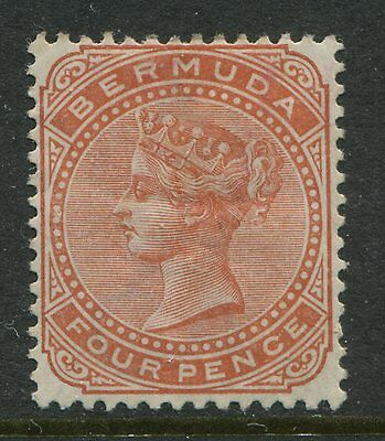 Bermuda 1904 4d brown orange VF mint o.g. hinged