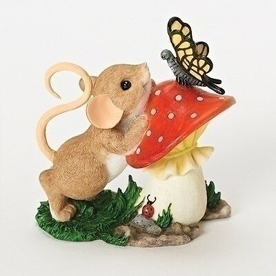 Charming Tails You Are So Beautiful to Me Mouse Mushroom Figurine NEW 19372 2016