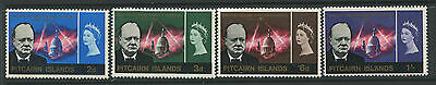 Pitcairn Island 1965 QEII Churchill set of 4 mint o.g. hinged