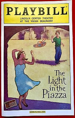 The Light In The Piazza - Original Broadway Musical Theatre Programme Playbill