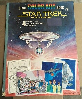 1978 star trek- giant coloring book, the motion picture vintage 17 x 22