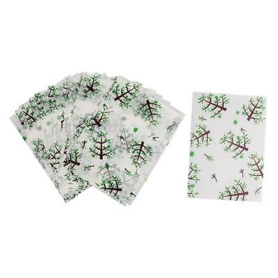 50pcs Tree Print Waterproof Dry Wax Paper Food Candy Wrapping Tissue Paper