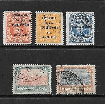 Uruguay. 1913-18. 2 Complete Used Sets. 1813 Conference Centenary, Constitution